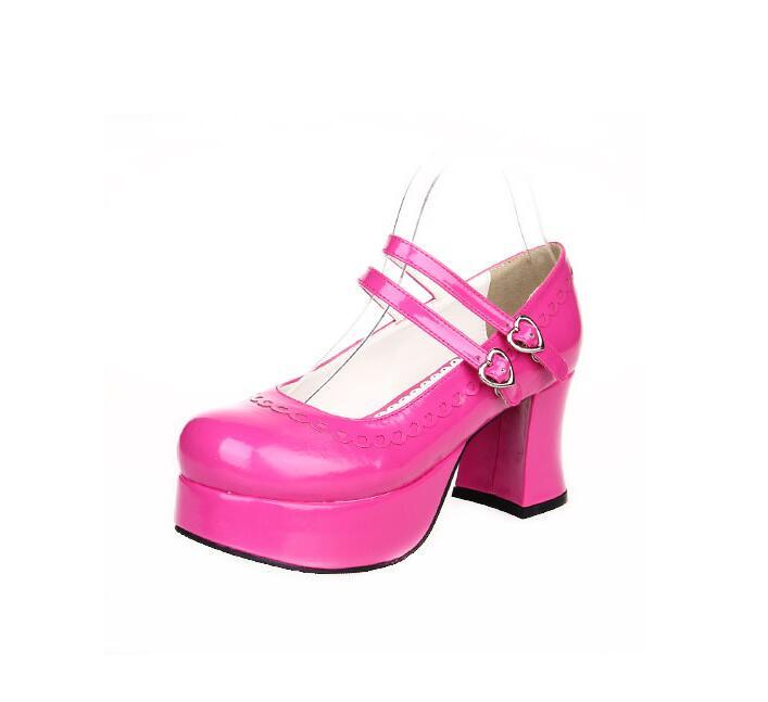 Mori rose Tacones rosado púrpura Angelical Bombas Negro Pl Chica Mujeres Vestido 33 Señora Cosplay Princesa Japón Lolita Altos Red blanco Impresión Mujer Partido Pl 47 Zapatos red Estilo 14RInqvq