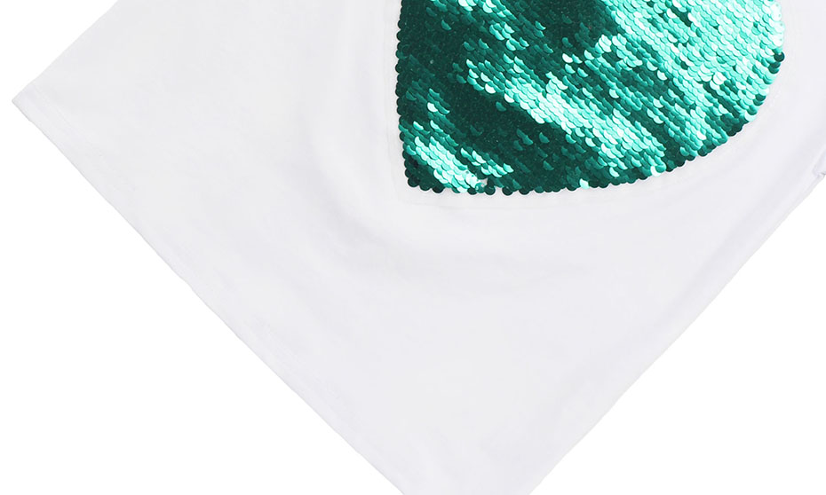 HTB1HWp6SY2pK1RjSZFsq6yNlXXat - T-Shirt For Girls Heart Sequin T Shirt Girl Short Sleeve Kids T Shirt Teenage Summer Clothes For Girls 6 8 10 12 13 14 Year