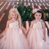 Champange שמלות נערות פרחי קיץ שמלות טוטו ילדי יום הולדת בנות חתונה בז 'ביגוד לפעוטות בנות כדור שמלת שמלות