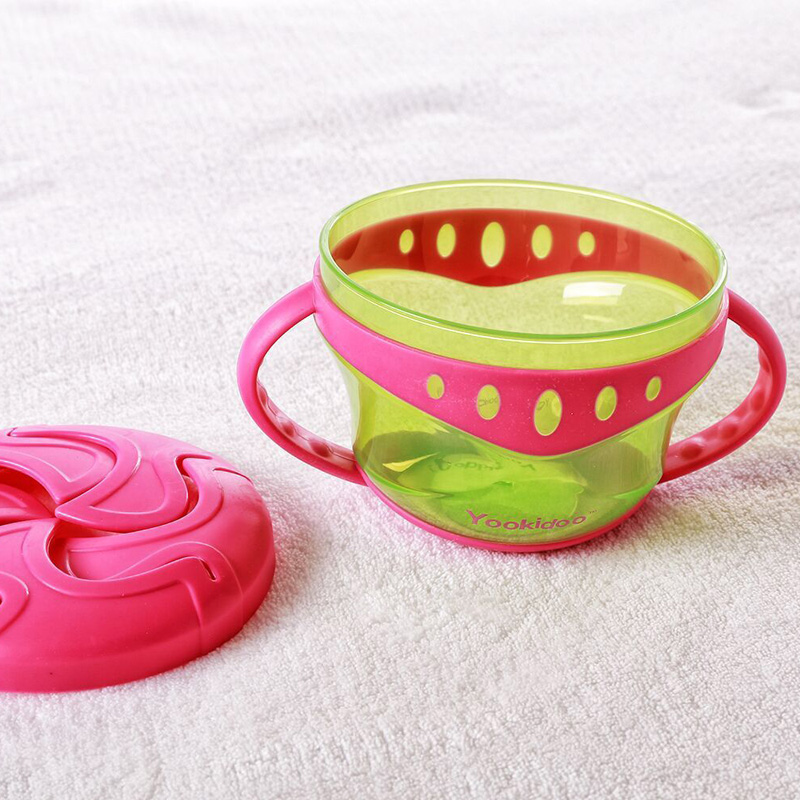 Baby Snack Non Spill Cup Soft plastic portable Portable storage - Memakan kanak-kanak - Foto 4