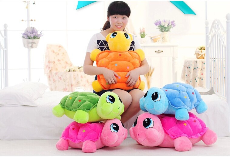 ФОТО huge 65cm colourful turtle plush toy tortoise doll pillow ,Christmas gift t8864