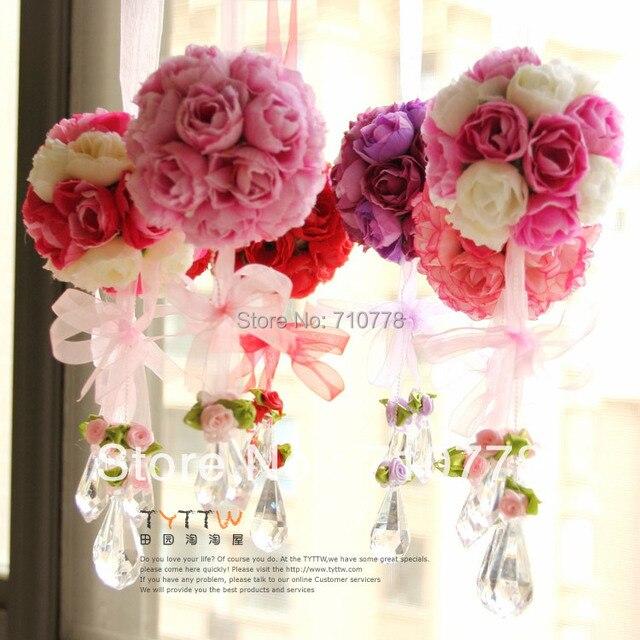 4pcs dia 85cm artificial fabric silk rose flower ball home door 4pcs dia 85cm artificial fabric silk rose flower ball home door window wedding decoration real mightylinksfo