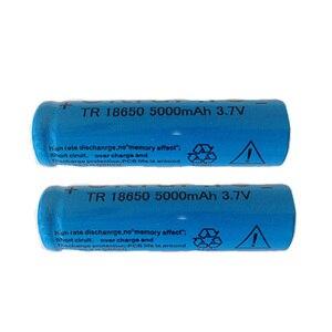 Image 2 - 2ピースは強い光懐中電灯充電式リチウムバッテリー3.7ボルト18650 5000 mahリチウムバッテリー