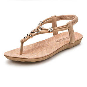80fa6485ec1c MUQGEW Summer Leather Women Ladies Sandals Beach Shoes