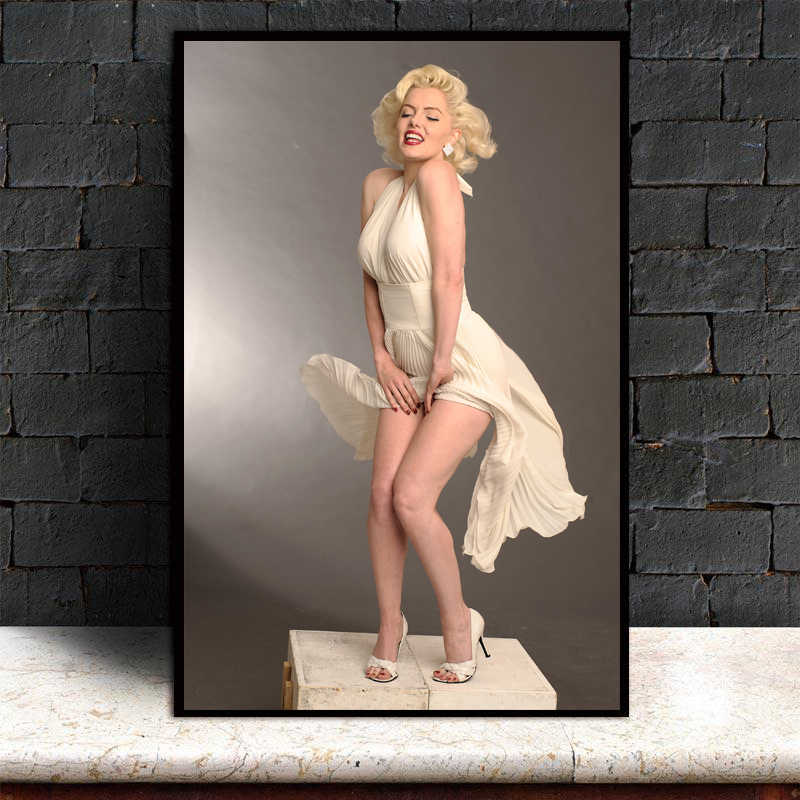 Marilyn Monroe Oil Canvas Painting Picture Wall Art Home Decor For Bedroom Living Room Modern Printed Unframed