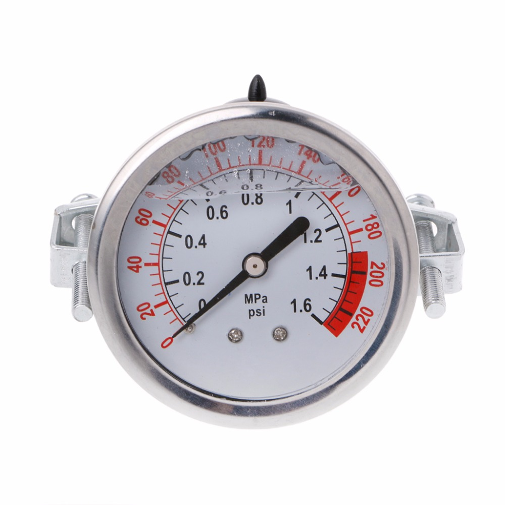 Water Treatment Appliance Parts Practive 0-1.6mpa 0-220psi Water Liquid Pressure Gauge Meter 1/4 F Reverse Osmosis Pump