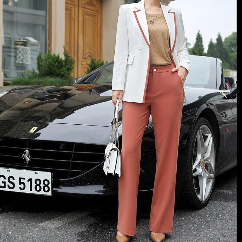 Suit Ensembles Entrevue Affaires Blazer Suit Automne Travail black Suit Capri Femmes Pant Blouse Blanc Pcs Dress Pink Costumes Bureau Tops pink noir Portant 2 rIgOIqS