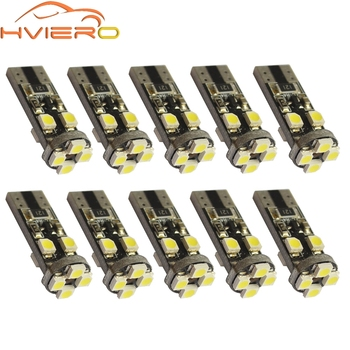 цена на 10X White Canbus T10 8Led 8 Smd 3528 1210 No Obc Error 194 168 W5w Car Led Interior Parking Light Bulb DC 12V Side Turn Lamp