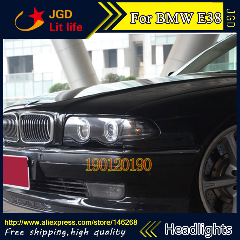 HID LED headlights headlamps HID Hernia lamp accessory products case for BMW E38 728 730 735 740 750 1998-2002 Car styling hireno car styling headlamp for 1998 2002 bmw e38 728 730 735 740 750 headlight assembly led drl angel lens double beam hid xen