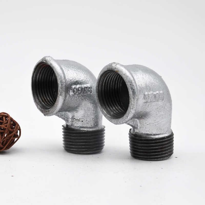 el agua Codo Galvanizado Macho//hembra de hierro maleable para aplicaciones de Combustible /& Aire