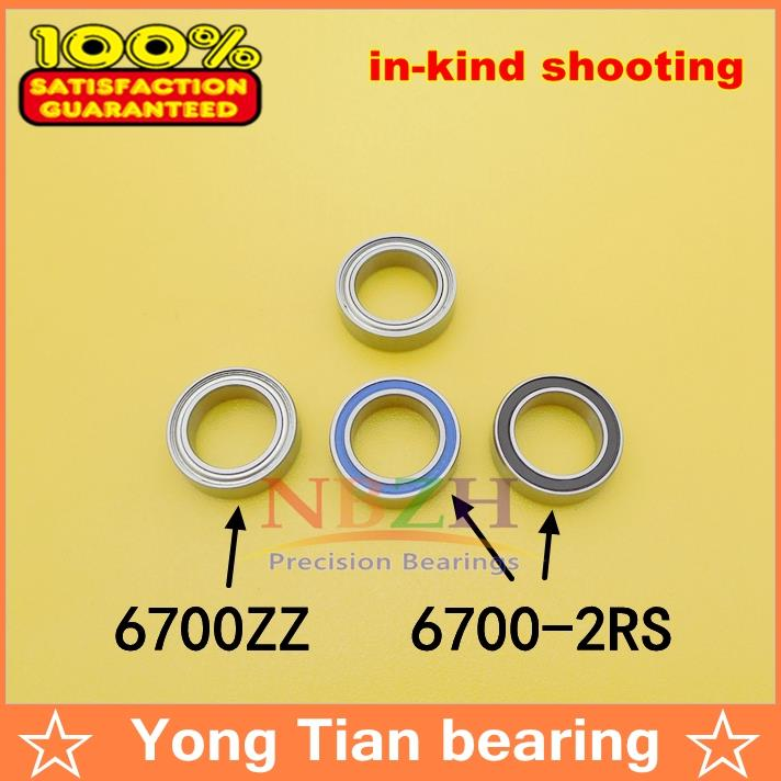 NBZH sale price 10pcs/ lot The high quality ABEC-5 Z2V2 of deep groove ball bearings 61700Z 6700ZZ 63700ZZ 10*15*4 mm high quality of non standard special motor bearings mr125zz size 5 12 4 mm helicopter model car available