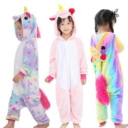 Children pajamas unicorn Animal Pajamas Girls Winter kids pijama de unicornio infantil pyjama licorne enfant pillamas animales