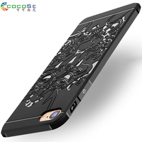 5 5S SE COCOSE Brand Silicone Case For IPhone 6 6s 7 Plus 3D Carved Luxury
