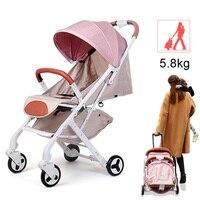 Прогулочная коляска для малышей для кукол детские ультра легкие складные коляски для малышей могут сидеть могут лежать капюшон для коляски
