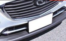 KOUVI 2pcs ABS Chrome Front Fog Lamp Light Grill Cover Trims Strip Accessories For Mazda CX-3 CX3 2016 2017 2018