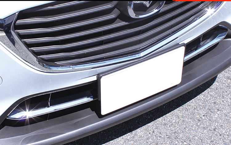 KOUVI 2pcs ABS Chrome Front Fog Lamp Light Grill Cover Trims Strip Accessories For <font><b>Mazda</b></font> CX-3 <font><b>CX3</b></font> <font><b>2016</b></font> 2017 2018 image