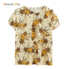 Yolanda Paz Newest Men/Women 3d t shirts good quality fashion breathable comfort Bee printing short sleeve o-neck tops tees