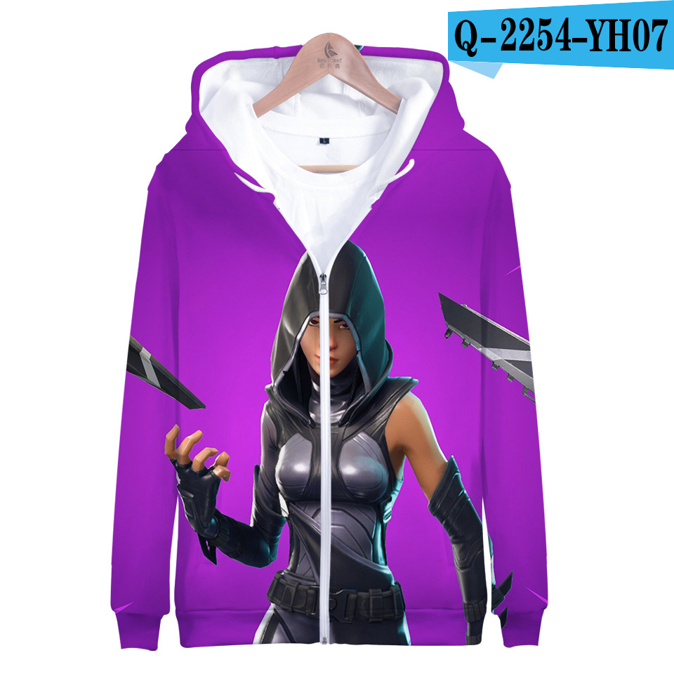 Fortnited Battle Royale Hoodie Print Moletons Fortnight Zipper Popular Fortnited Women Clothes Game Clothes Popular Clothing