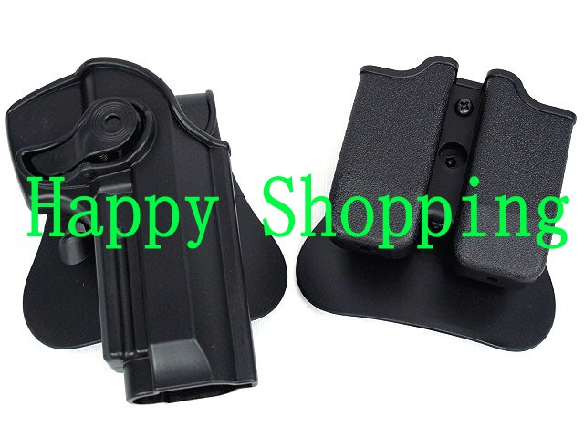 Sports & Entertainment Hunting Polymer Retention Roto Tactical Gun Holster M92 Retention Holster For Beretta 92 Llama 82 Pistols Double Magazine Pouch