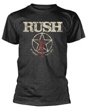 Rush American Tour 1977 Mens T-Shirt  Black Sleeve Harajuku Tops Men Short Sleeves T Shirt Top Tee Basic 100% Cotton