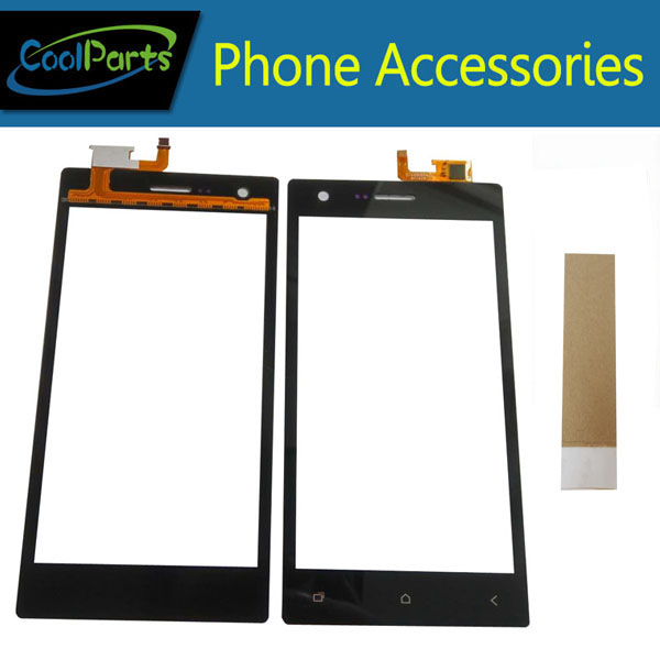 1PC/Lot High Quality For Micromax Q413 Touch Screen Digitizer Touch Panel Lens Glass Replacement Part Black Color With Tape