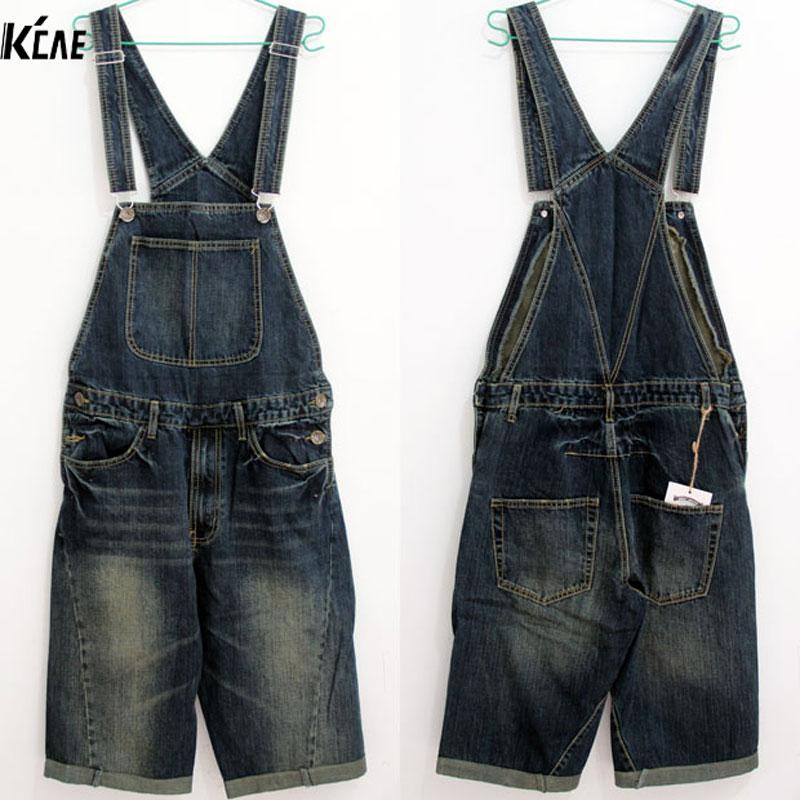 ФОТО Free Shipping Denim Overalls Men 2016 New Brand Fashion Mens Bib Denim Shorts Bib Jeans Fast delivery Size S,M,L,XL,XXL,3XL,4XL