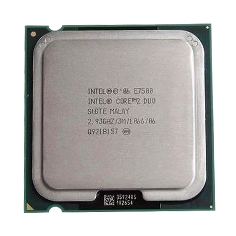 INTEL Core2 E7500 Dual Core Processor E7500 Core Cpu (2.93GHz /3MB Cache /FSB 1333 )still Have Sale  Intel E7500 LGA775 CPU