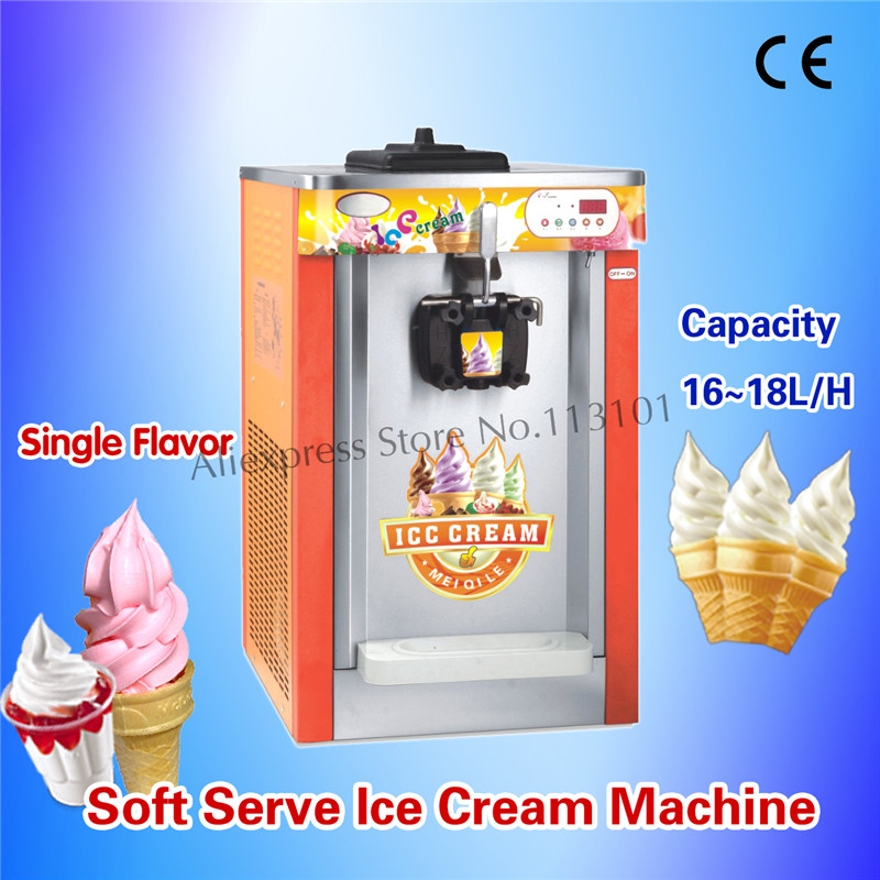 Softy Ice Cream Maker Orange Color Soft Icecream Maker Single Flavor CE Approved Brand New ключ rock force rf 5161hd