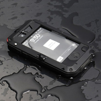 Premium Protection Heavy Duty Case For IPhone 4 4S Strong Armor Shockproof Waterproof Metal Case Back