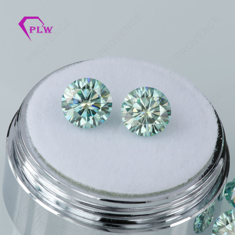 Provence Jewelry Promotion Price 4 pieces 4 5mm Clarity VVS Round Brilliant Cut Blue And Light Blue Moissanite For Ring Bracelet in Loose Diamonds Gemstones from Jewelry Accessories