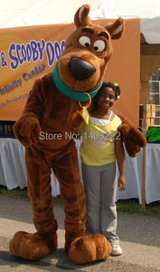Brown Snoopyy Dog Scooby Doo Mascot Costume Mascot With Black Large Nose Cartoon Character Adult Fancy Dress Free Ship