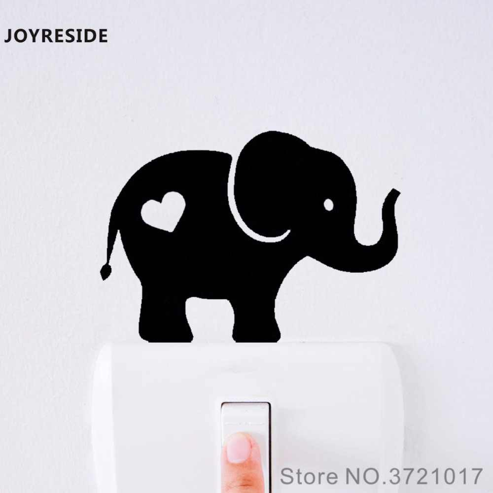 Joyreside Baby Elephant Cute Funny Light Switch Small Wall Decal Vinyl Sticker Room Decor Art Removable Home Mural Poster Xy136 Wall Stickers Aliexpress
