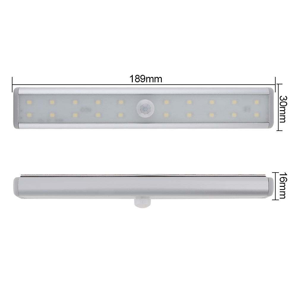 IR Infrared Motion Detector Sensor 20 Bright LED USB Rechargeable Cabinet Night Lighting for Closet / Wardrobe / Bedroom
