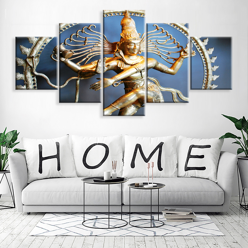 Canvas Painting Wall Art Home Decor For Living Room HD Prints 5 Pieces Poster Pictures Wooden Bar Framed ready to hang Pakistan