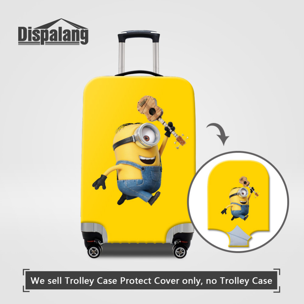 Cartoon Despicable Me Thick Elastic Luggage Protective Covers For 18-30 Inch Case Minions Waterproof Suitcase Cover With Zipper