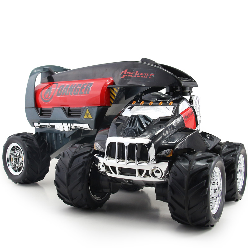 Oversized xq electric remote control car oil tank truck rotating off-road vehicles toy remote control car kingtoy 1 32 detachable kids electric big rc truck detachable trailer remote control wireless truck toy with sound and music car