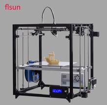 Impresora 3D de Alta Precisión de Metal de aluminio de Gran tamaño de impresión 260*260*350mm 3d para imprimir Kit Caliente Cama Dos rollo de Filamento Sd Tarjeta