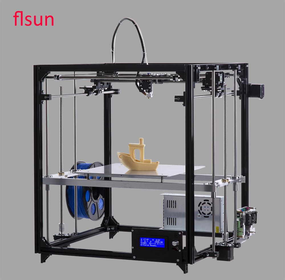 Prix pour En aluminium En Métal 3D Imprimante Haute Précision Grand impression taille 260*260*350mm 3d-imprimante Kit Chaude Lit Deux rouleau Filament Sd Carte