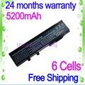 Arj1 jigu preto 6 células bateria do portátil para acer ms2180 tm07b41 Aspire 2920Z 2920 3620A 3620 3623 3640 3628 3670 5540 5541