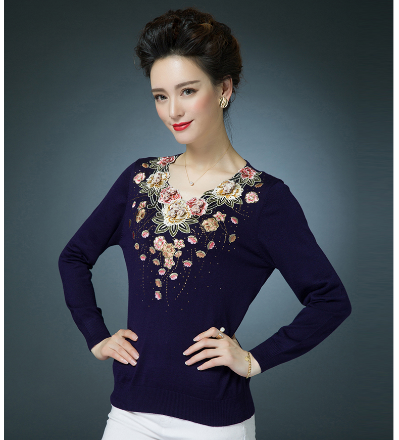 Winter Spring Jumper Womens Sweaters Pullover Knitted Colorful ... 9925d1e9d