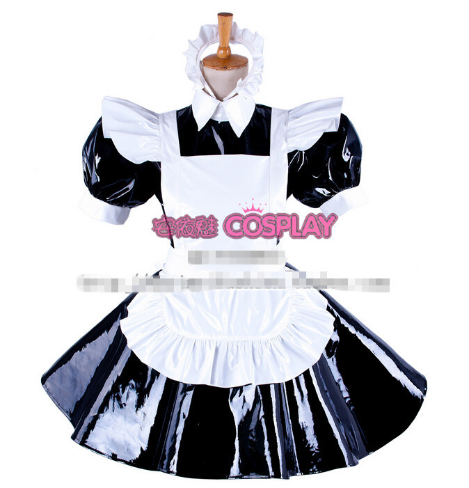 Hot Sell Custom Made Sexy Sissy Maid Dress Lockable PVC Uniform Cosplay  Party Halloween(China - Online Buy Wholesale Pvc Sissy Maids Dress From China Pvc Sissy
