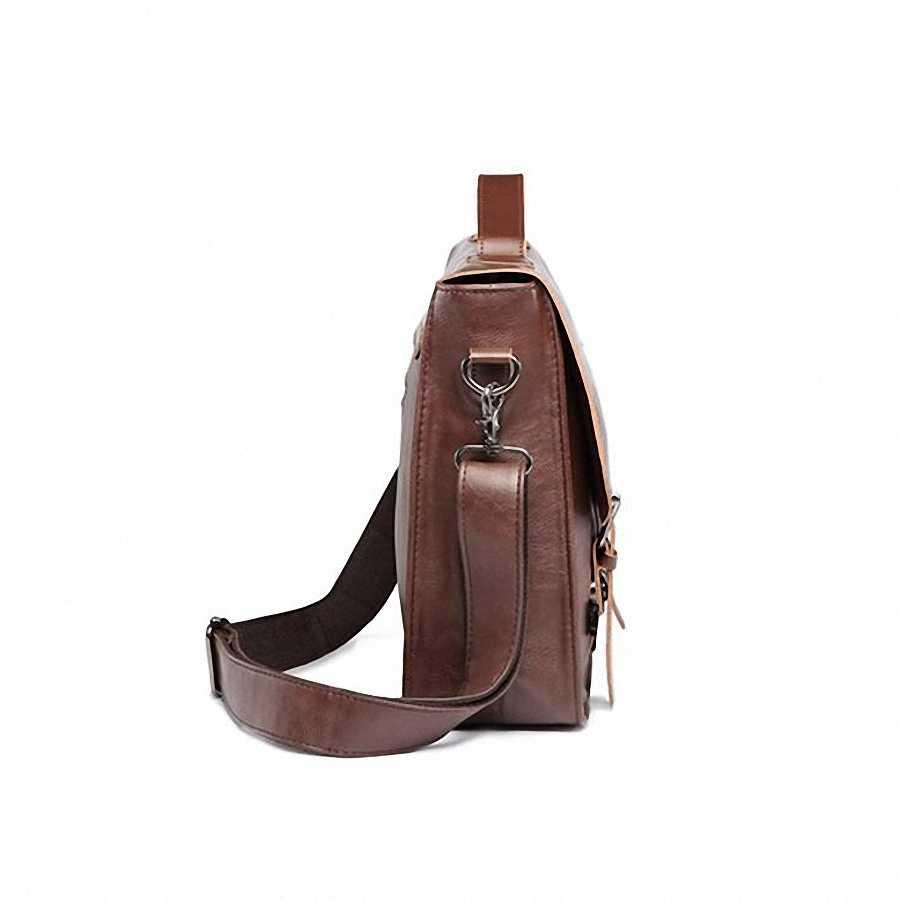 Sıcak satış erkekler çanta çılgın at PU deri çanta erkek postacı çantası crossbody omuz erkek seyahat çantası evrak çantası LI-815