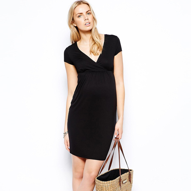 New Maternity Casual Dresses Clothes For Pregnant Women Plus Size M-XL Summer  Women Dress 7a64c03a19ca