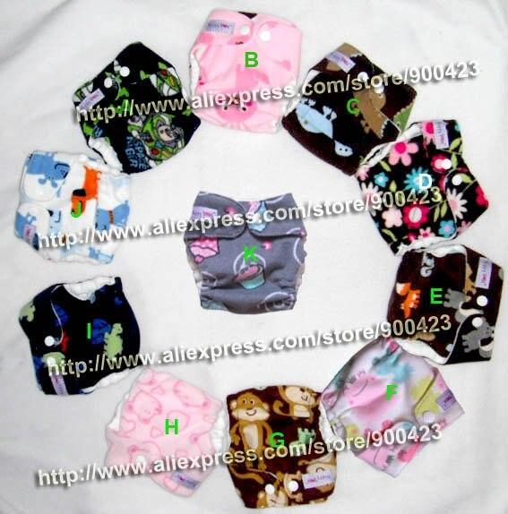 waschbare neugeborene Babytuchwindel 1pcs Stoffwindel + 1pcs Einsätze