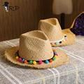 2016 Verano 100% Playa de La Paja Sombreros para el Sol Para Las Mujeres Clásico Sombrero de Panamá sombrero de paja de Ala Ancha chapeaufemme paille chapéu feminino