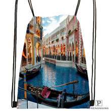 Custom sunrise-venice-morning- Drawstring Backpack Bag Cute Daypack Kids Satchel (Black Back) 31x40cm#2018612-01-11