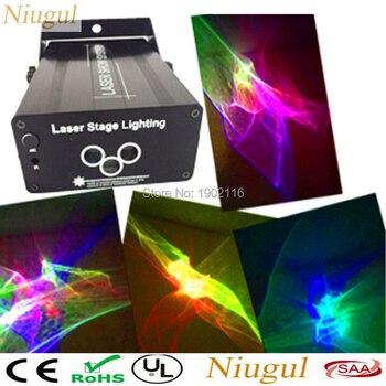 9c7c085c870 Niugul 3 lente RGB luz láser proyector etapa efecto de iluminación RGB LED  onda de agua