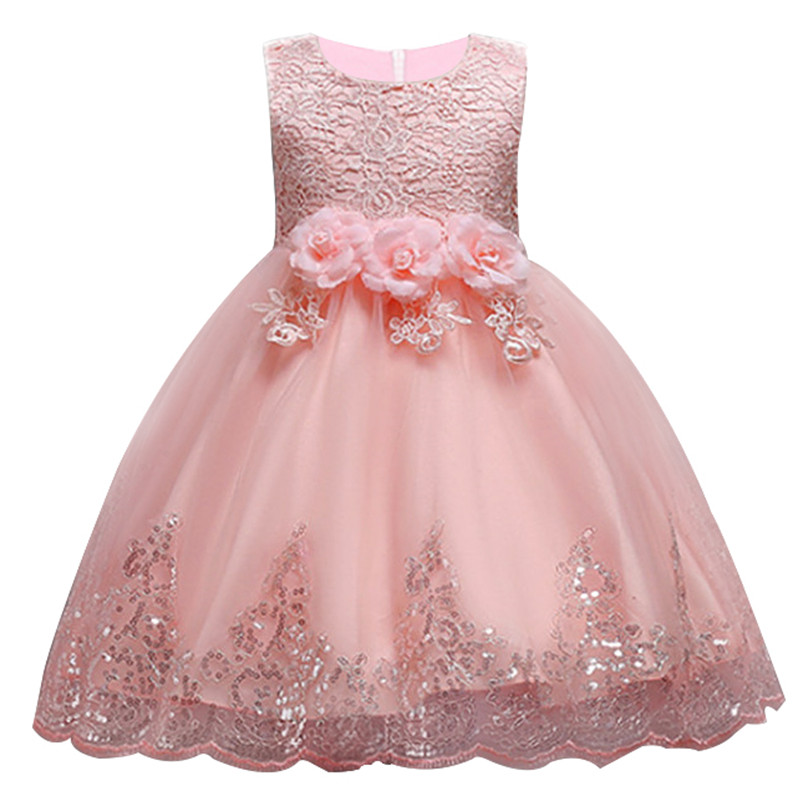 Girls' Clothing Mother & Kids Ambitious Hot Group Childrens Clothing Baby Girl High Quality Lace Wedding Princess Dress Children Christmas Sweet Dress Fashion Dress