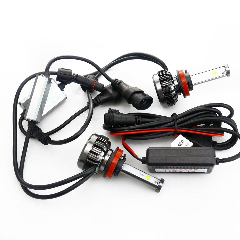 NOVSIGHT H7 LED H4 H11 9006 9005 Auto Koplampen Lampen 100W 20000LM Decoder Auto LED Koplamp Koplampen 6000K 12V 24V - 2