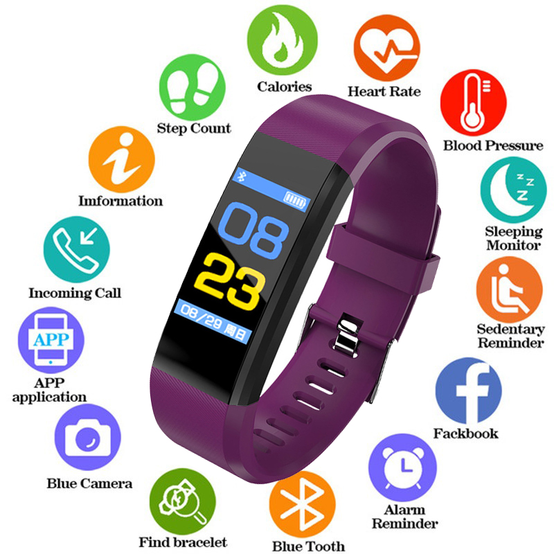 New Smart Watch Men Women Wristband Fitness Tracker Heart Rate Monitor Blood Pressure Smartwatch Sport Watch for ios android